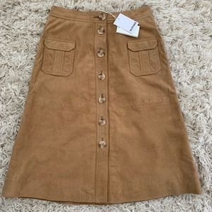 NWT - Walter Baker Suede Skirt, Size 4